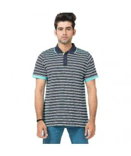 Multicolor Jersey Mercerize Polo For Men