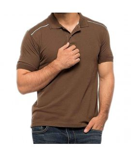 Cotton Polo Brown Shirt for Men -Sale