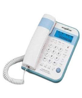 TSDL CID Call Waiting Phone White And Blue