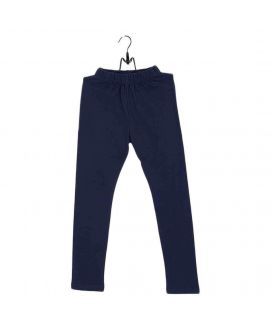 Fashion Café Navy Blue Cotton Stretch Tights For Girls