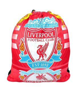 Football Planet Red Polyester Liverpool Drawstring Sack
