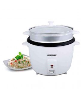 Geepas G R C4327 Automatic Rice & Pressure Cooker White