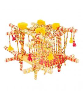 Handmade Beaded and Bright Laced Doli Decoration Piece