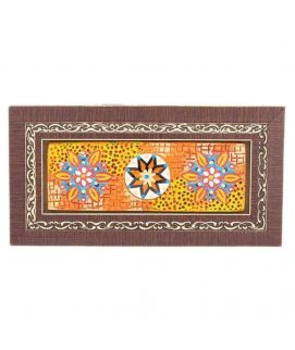 Embossed Floral Pattern In Beautiful Classic Wooden Frame