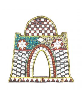 Handmade Mirror Work & Delicately Beaded Classic Wall Hanging Quaid's Tomb Decoration Piece