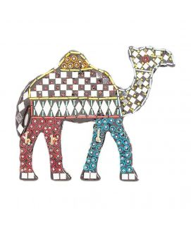 Handmade Mirror Work & Delicately Beaded Wall Hanging Camel Decoration Piece