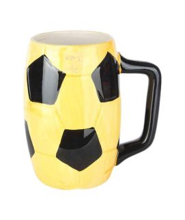 Yellow Footbal Mug