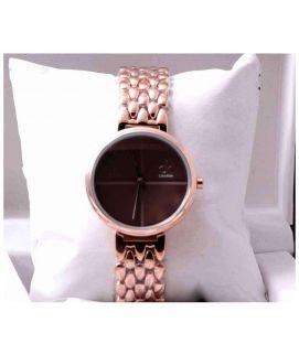 Golden & Brown Ck Stylish Women's Watch