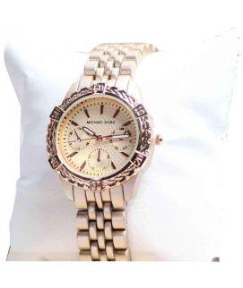 Fawn & Maroon Michael Kors Women's Watch