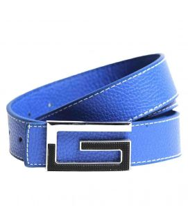 Stylish Blue Leather with G Logo Belt for Men's