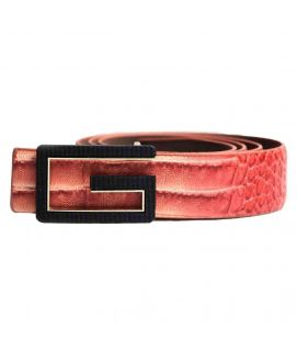 Stylish two Shaded Leather with G Logo Belt for Men's