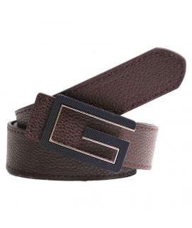 Stylish Brown Leather with G Logo Belt for Men's