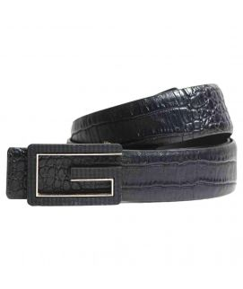Stylish Shininh Black Leather with G Logo Belt for Men's