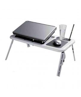 Inv E table Laptop Table With Cooling Pads White