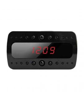 Multifunctional Motion Sensor Digital Alarm Clock with Camera Black