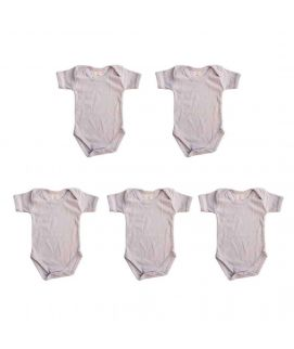 Light Blue 5 Pcs Set Of Unisex Baby Rompers For 6-12 Months Old Babies