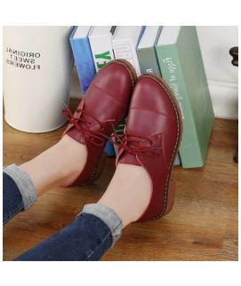 Women's Oxfords Brown Lace Up Shoes