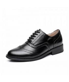 Women's Oxfords Black Lace Up Shoes