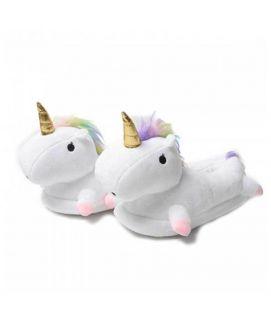 Women's White Unicorn Slippers
