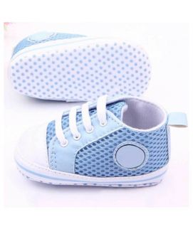 Sky Blue Lace Baby Shoes