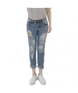 Women's Ripped Jeans Straight Fit