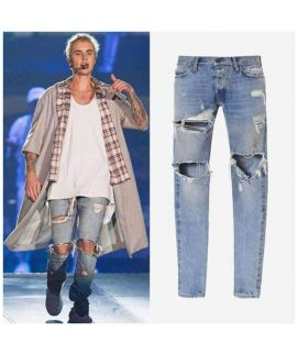 Blue Jeans Ripped For Men