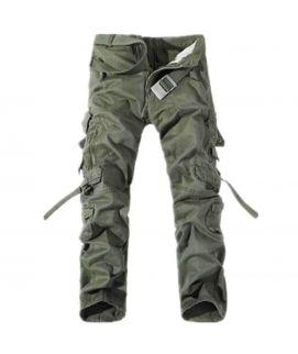 Men's Green Cargo pants With Belt