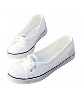 Women's White Lace Trainers
