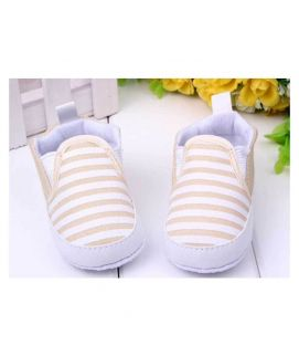 White Stripes Baby Shoes