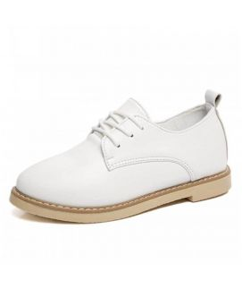 Women's White Oxfords Casual Shoes