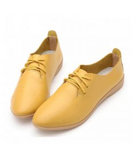 Women's Yellow Oxfords Casual Shoes