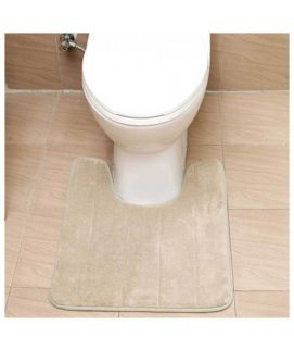 U Shaped Bath Mats Soft Pats Anti Slip Mat