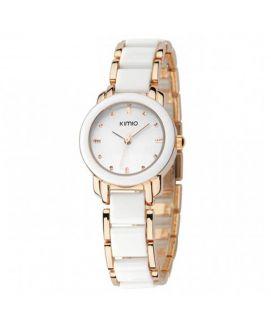 Kimio White & Golden Bracelet Watch