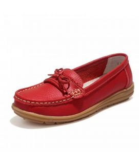 Women's Red Oxfords Loafers