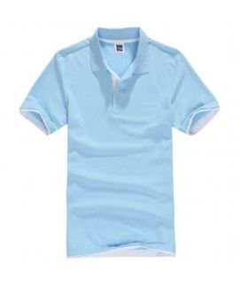 Men's Sky Blue Collar Polo Shirt