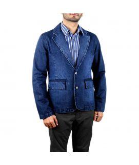 Men's Denim Coat Blue Jeans Style