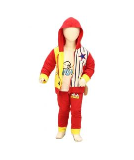 Boys 3 Piece Red & Yellow Suit