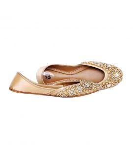 Women's Kundan Khussa in Gold