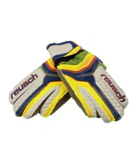 Junior Football Goalkeeper Gloves Yellow