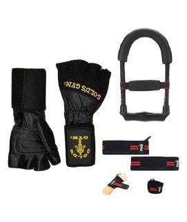 Pack Of 3 Golds Gym Wrist Wrap Lifting Gloves Wrist Exerciser & Weight Lifting Gym Strap