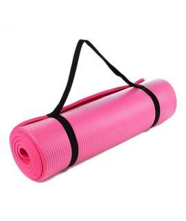 Yoga Mat Non Slip Exercise Fitness 10mm Pink