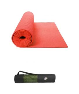 Yoga & Gym Mat With Bag 6mm Red