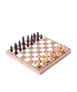 Indoor Wooden Chess Game Multicolor