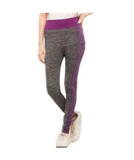 Work Out Stretchy Tights Purple