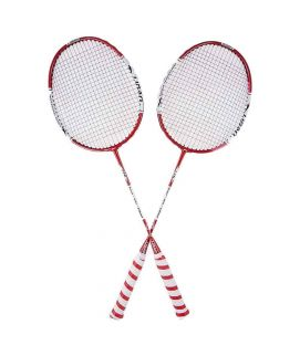 Sports City Sportica 726 Pack of 2 Badminton Rackets White & Red