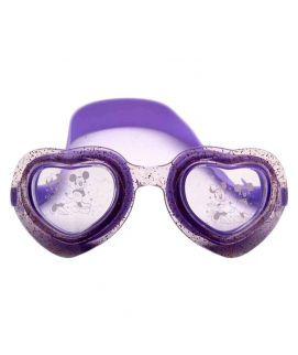 Sports City Swimming Mickeymouse Heart Shaped Goggles Purple