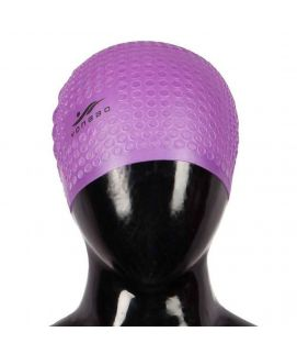 Swimming Cap With Ears Protection Purple