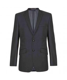 Men's Charcoal Tailored Fit 2 Button Jacket