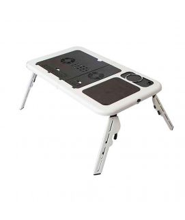 Laptop Table with Cooling Fans Black & White