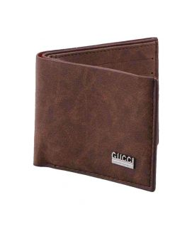Coffee Brown Leather Wallet for Men